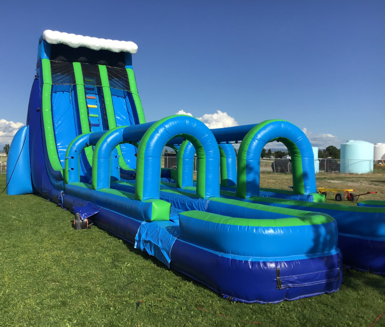 27' Double Lane Wet/Dry Slide